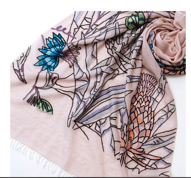 Embroidered Scarf & Shawl | Handmade Cashmere Pashmina