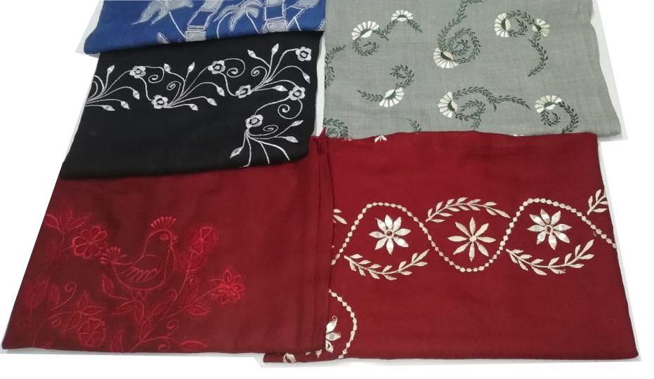 Machine Embroidered Scarf & Shawl