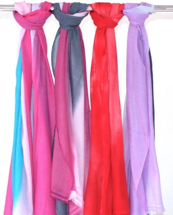 Ombre Graded Wool Modal Scarf and Shawl Suppliers