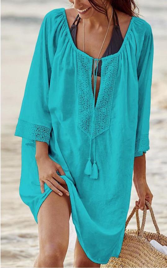 Summer Cotton beach Wraps and kaftan dresses