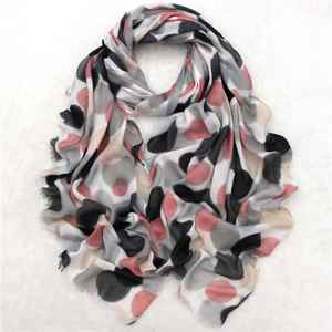 Quality Screen Printed Silk Satin Square Scarf