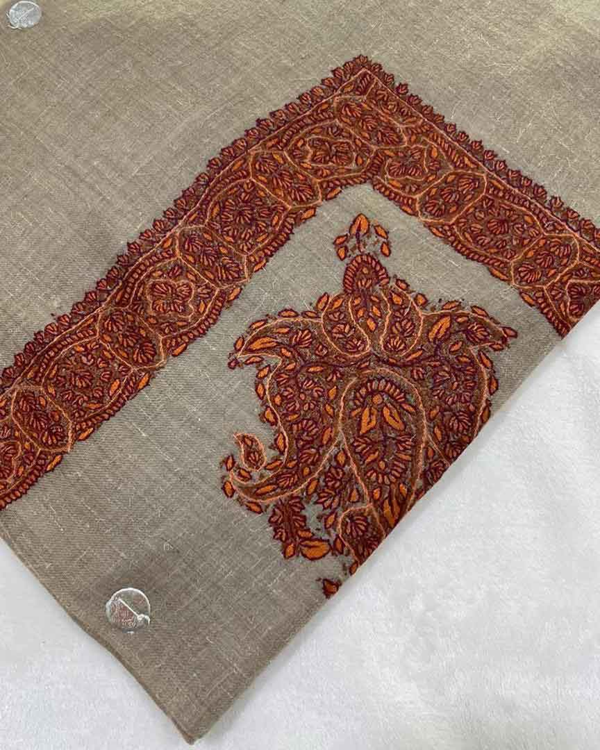 Pure Pashmina Embroidered Shemagh and Head Wraps