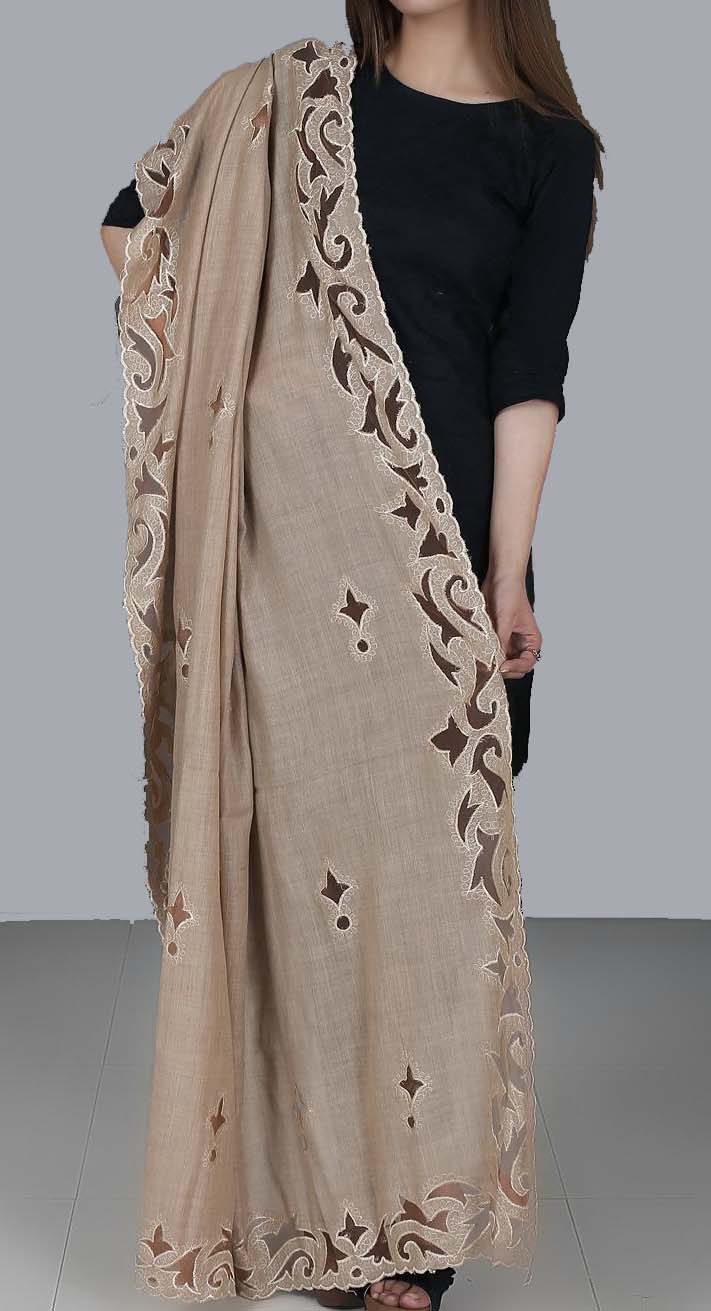 Wool Laser Cutwork Designer Scarves and Shawls