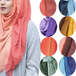 Ombre Muslim Head Scarves