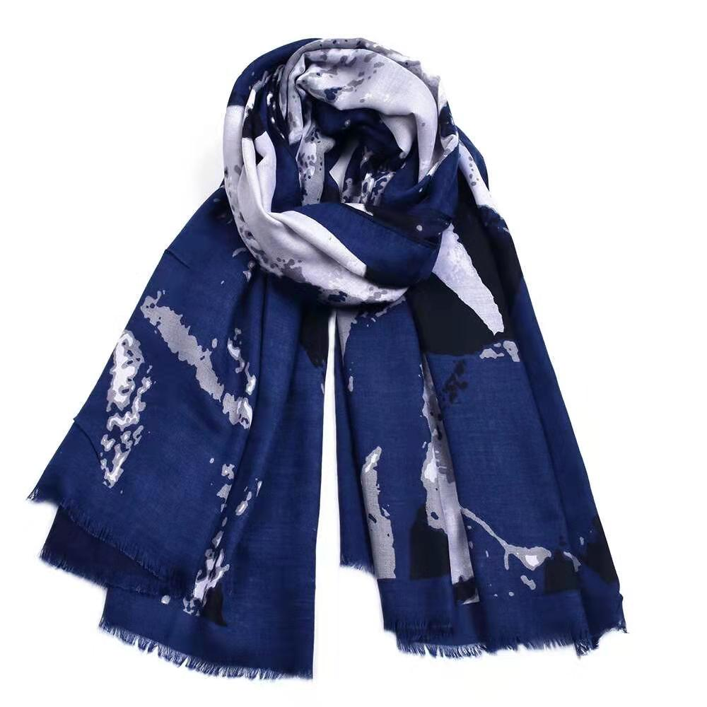 Hijab Scarves | Printed Silk Cotton Pashmina Shawls