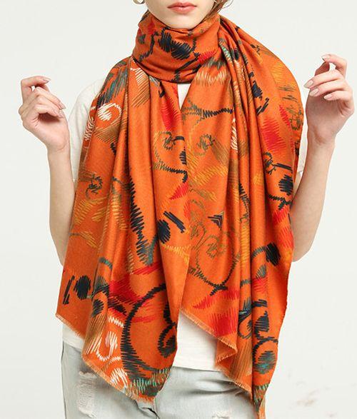 Hijab Scarves | Printed Silk Cotton Pashmina Shawls
