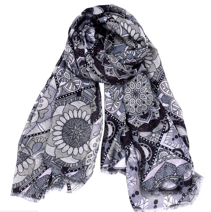Paisley Scarves for Men & Women | Linen Modal Shawls