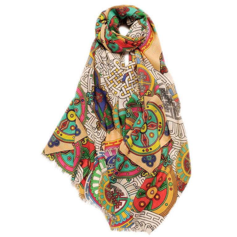 Printed Wool Scarf | Digital Printed Merino Wool Shawls