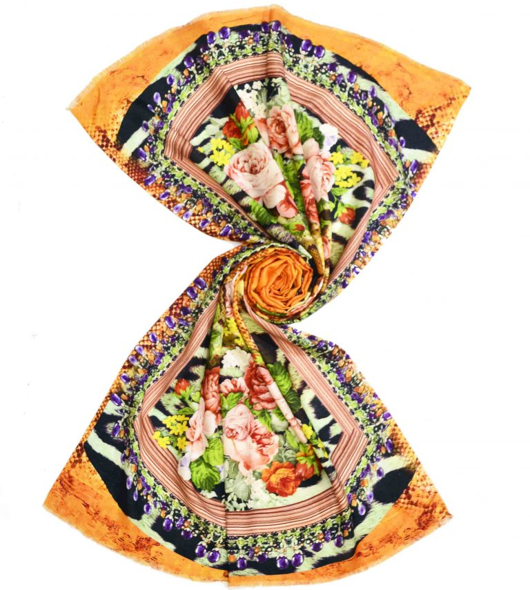 Custom Printed Modal Scarves | Floral Pashmina