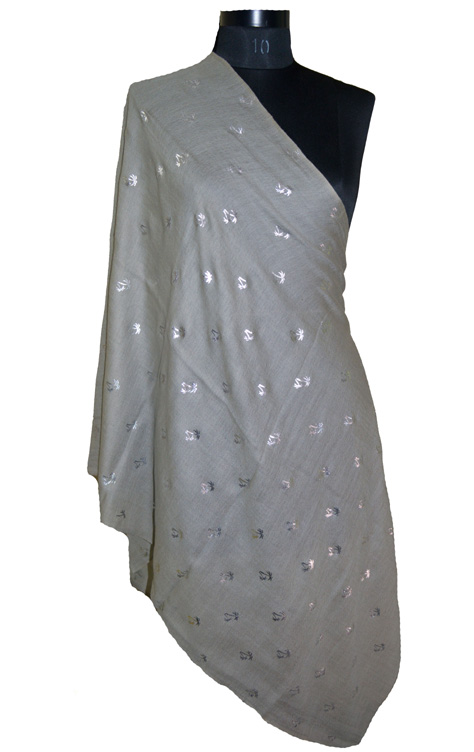 Silver Foil Printed Scarves