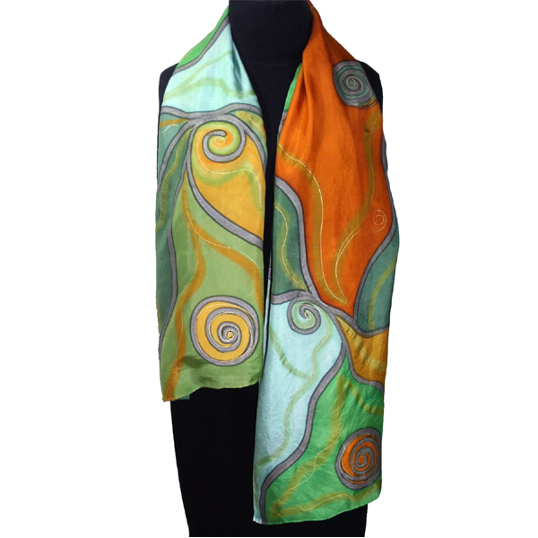 Custom Printed Silk Scarves | Hand Painted Silk Shawls