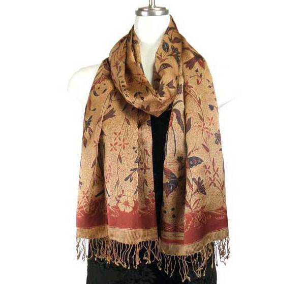 Modal Silk Print Shawls | Floral and Paisley Scarf