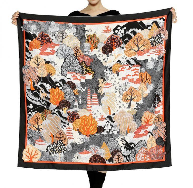 Custom Printed Silk Scarves   Hand Painted Silk Shawls