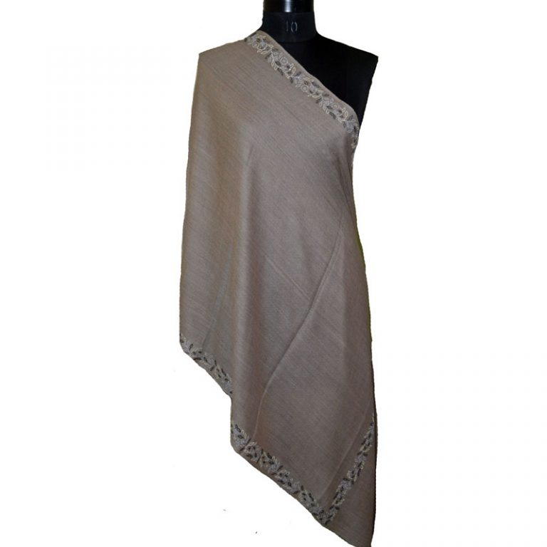 Crystal Embellished Wool Silk and Cotton Scarves
