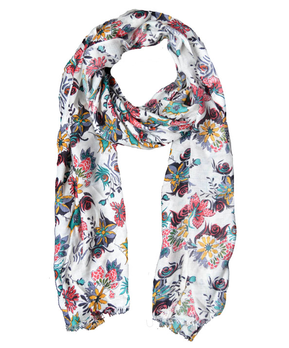 Printed Cotton Modal Scarf | Hand Painted Scarves