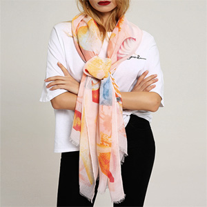 sustainable cotton and viscose scarves