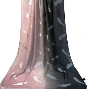 Graded Ombre Metallic printed shawls in Bulk
