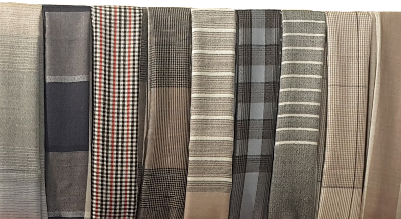 Plaid Striped and Check Wool Scarf and shawls