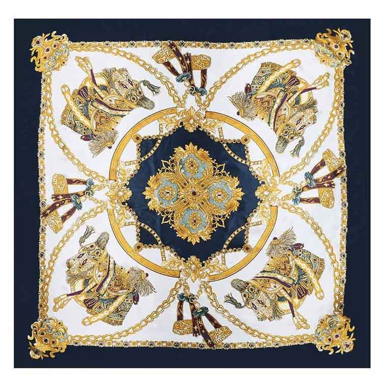 Silk Square Printed Scarf, wraps and stoles in wholesale