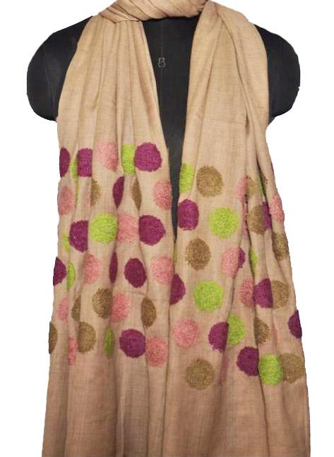Handmade Linen Embroidered Shawls