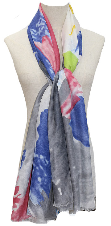 Hand Painted Organic Linen Wraps and Shawls
