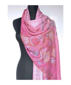 Embroidered Wool Shawls and Scarves